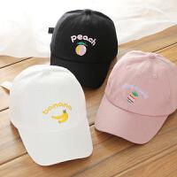 宝宝鸭舌帽男童棒球帽韩版水果儿童帽子中通小孩遮阳帽春季女童帽