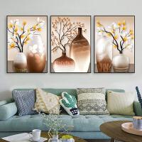 沙发背景墙装饰画 北欧风格挂画客厅墙面装饰油画现代简约大气艺术画 70*100 25mm水晶烤瓷面 黑边