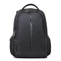 电脑包双肩背包商务笔记本包14寸男女15.6寸笔记本双肩包 黑色 15寸