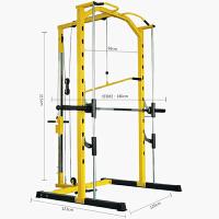 轨道深蹲架框式龙门架卧推器杠铃架举重床多功能健身器材综合训练