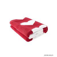 初上家 全棉爱心针织毯儿童毯婴儿毯纯棉宝宝盖毯空调毯零甲醛