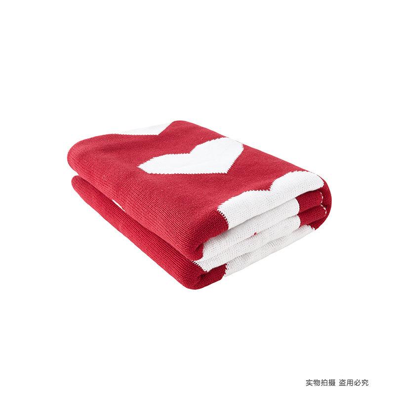 初上家 全棉爱心针织毯儿童毯婴儿毯纯棉宝宝盖毯空调毯零甲醛   「四季适用」天然温和的棉花,安全环保,零污染零添加,铺在宝宝床上、童车上,出门挡