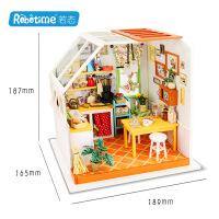 若态木质diy小屋3d立体拼图拼板创意纯手工拼装杰森的美味厨房 DG105杰森的美味厨房