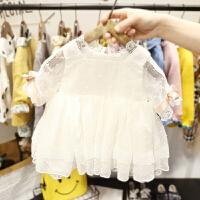 1-3岁女宝宝短袖网纱裙女婴儿夏装韩版蕾丝连衣裙2女童仙公主裙