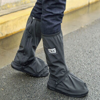 过膝防滑加厚耐磨鞋套 高筒防水防雨鞋套男女 户外旅游鞋骑行鞋套