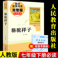 骆驼祥子 原著老舍 人民教育出版社 初中生 人教版 课外阅读书籍 七年级下册名著