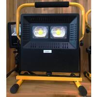 20180918020114053led充电投光灯手提式户外照明灯 广场移动工地防水应急便携探照灯