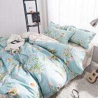 少女心床单四件套夏季冰丝 夏凉 大学宿舍床上三件套床单被罩枕套