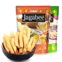 Calbee卡乐B宅卡B原味薯条2包 进口jagabee卡乐比薯条三兄弟膨化零食