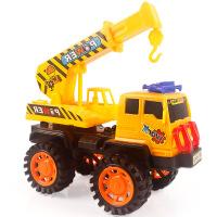 模型玩具可拆装一变多款耐摔手推滑行工程车拼装车 吊车308-12