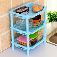 置物架家用多功能三角形方形落地厨房储物架塑料卫生间浴室收纳角架子满额减限时抢*家具