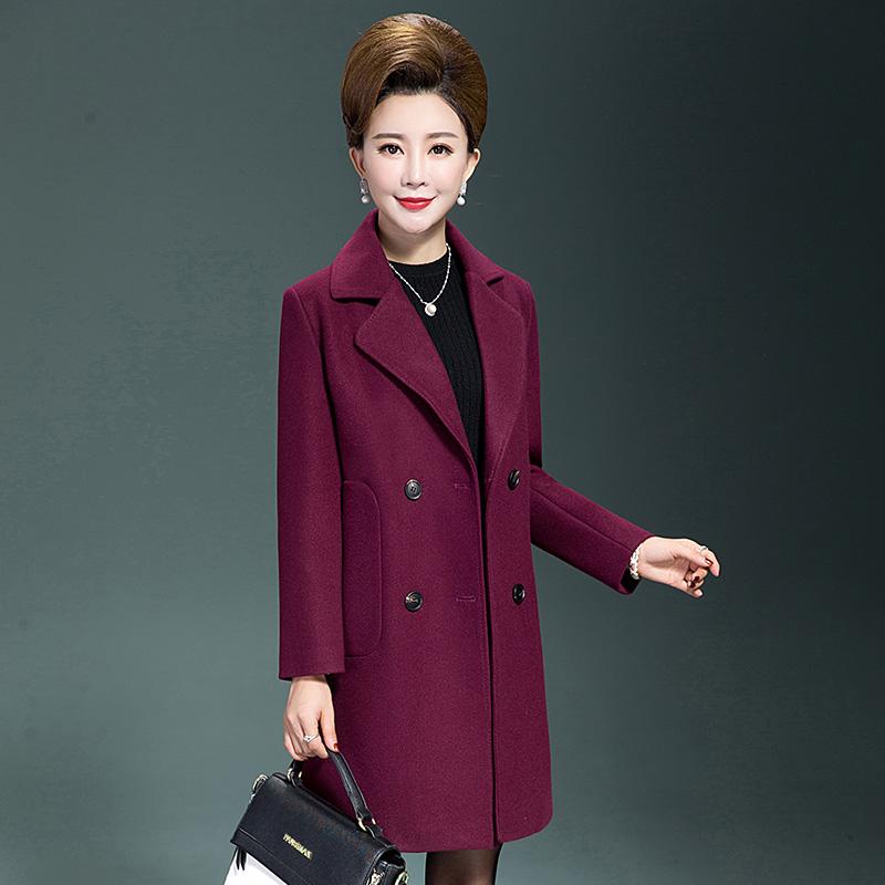 妈妈呢子外套冬中长款秋冬装40-50岁中年女士毛呢大衣女新款 一般在付款后3-90天左右发货,具体发货时间请以与客服协商的时间为准