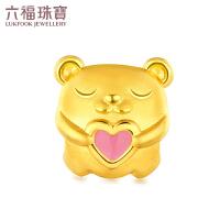 六福珠宝 zing 甜心 小熊珐琅工艺 黄金串珠足金串珠手绳定价L01A1TBP0035
