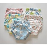 婴幼儿训练裤 纯棉尿布兜 宝宝练习裤 六层纱布底裆学步裤