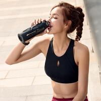 高强度防震运动文胸女跑步背心胸衣聚拢瑜伽高支持防下垂运动内衣 黑色 现货
