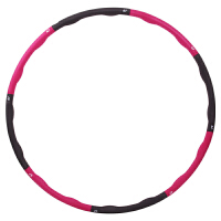泡棉呼啦圈女式加重可拆卸呼拉圈健身圈 八节可拆卸 红灰色