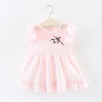 女童裙子夏季儿童镂空背心裙0一1-2-3岁婴儿宝宝夏装公主裙女