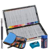 马可7100-72TN铁盒油性彩铅72色彩色铅笔5件套填色彩铅 可画秘密花园、魔法森林、飞鸟等入门手绘涂色书本