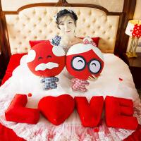 陪你到老结婚压床娃娃一对闺蜜结婚礼物创意新婚礼品公仔婚庆抱枕 大号高60cm 很大气
