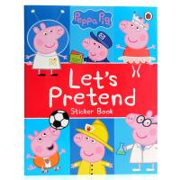 粉红猪小妹 Peppa Pig 英文原版绘本 小猪佩奇 Let's Pretend! 亲子互动益智贴纸图画书 儿童启蒙