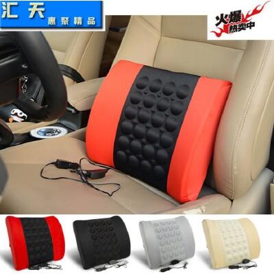 汽车腰靠 靠椅按摩腰靠 12V可印LOGO靠垫 车载电动腰靠【包邮--新品上架】