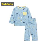 巴拉巴拉宝宝睡衣秋季薄款卡通1-3岁儿童睡衣男童家居服套装纯棉