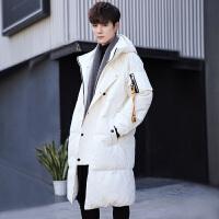 韩版加厚修身款羽绒服男士冬季青少年中长款外套学生潮流休闲男装