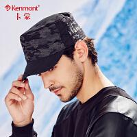 kenmont男士帽子秋冬韩版迷彩平顶帽户外休闲军帽全棉鸭舌帽男帽2433