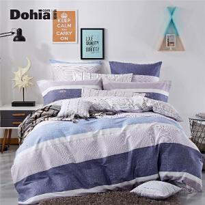 多喜爱简约单/双人床品套件床上用品全棉四件套舒适床品威尔士
