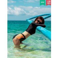 长袖运动分体泳衣女专业训练性感游泳衣新款爆款ins风泳装
