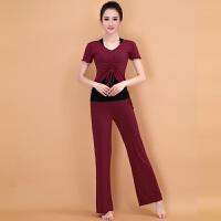 春夏季新款瑜珈服套装女 中长袖三件套瑜伽服健身服愈加服