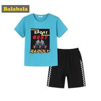 巴拉巴拉童装男童套装中大童儿童两件套夏装短袖T恤裤子