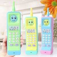 大哥大玩具手机儿童早教玩具电话宝宝启蒙学习音乐1-3岁玩具 大哥大【送电池】颜色随机