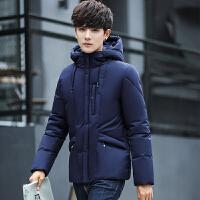 冬季男外套青少年短款冬装韩版男装男士棉衣冬天棉袄子冬衣服 B600藏青色 L