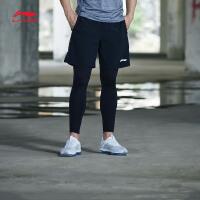 李宁运动短裤男士2018新款训练系列薄款男装短装夏季梭织运动裤AKSN263