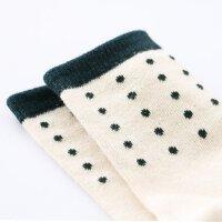 AMII童装春季款男女童袜纯棉春秋款儿童提花弹力短袜两双男孩
