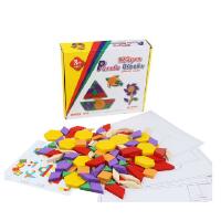 木制七巧板125片拼图积木 几何图形玩具