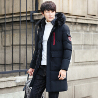 冬季男士棉衣中长款青年韩版修身棉服个性潮男加厚棉袄冬装外套男