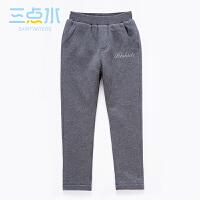 三点水童装冬装热销男中大童针织裤加厚保暖休闲运动长裤