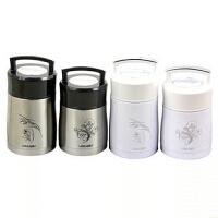 楼龙正品不锈钢杯子1200ml真空焖烧壶保温饭盒 手提饭桶 超大容量罐白色