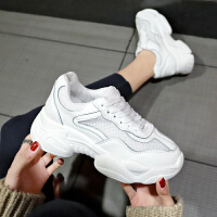 夏季运动鞋女时尚新款韩版网面透气厚底小白鞋ins潮流老爹鞋
