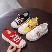 男童女童儿童帆布鞋小白鞋宝宝鞋幼儿园饼干鞋秋季小童球鞋潮