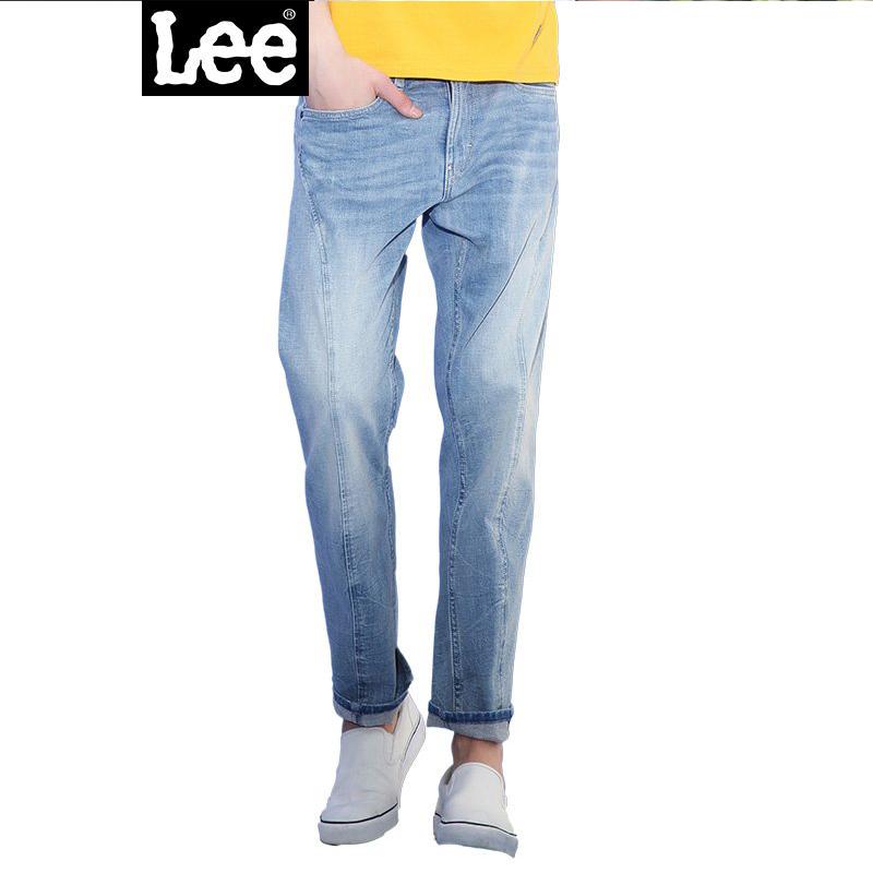 Lee男装 2017秋冬新品水洗猫须九分牛仔裤男LMZ755Z024KN低腰标准直脚;潮流设计;潮流百搭
