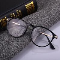 复古圆形眼镜框女款韩版潮流文艺金属眼镜架黑框男全框平光镜
