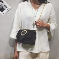 韩版女士时尚毛呢链条小方包小包包单肩斜挎包