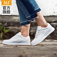 361女鞋白色港风板鞋女休闲鞋子防滑板鞋361度冬季运动鞋百搭