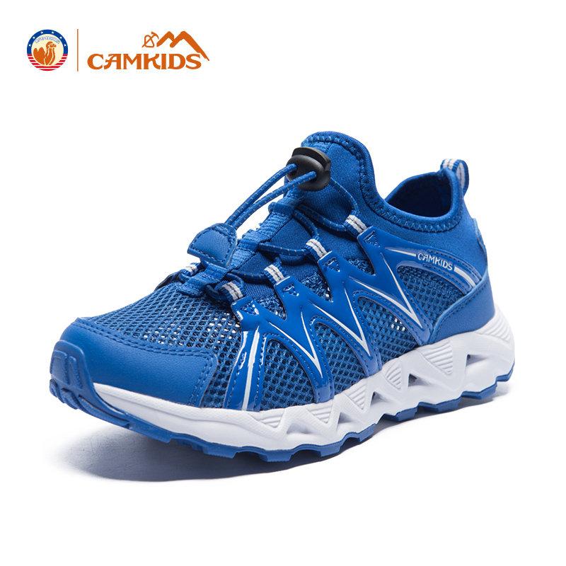 CAMKIDS男童运动鞋儿童网鞋休闲鞋2018春夏新款透气网面鞋子
