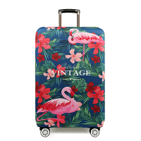 七夕礼物弹力箱套20拉杆箱套242628行李箱旅行箱保护套30寸加厚耐磨 红花火烈鸟 XL码(加厚)29-32寸 是箱