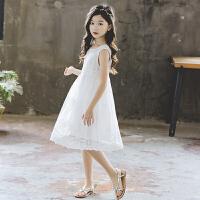 女童公主裙夏季中大童小女孩蕾丝花边连衣裙