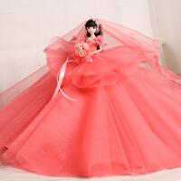 芭比娃娃大蓬裙公主女孩儿童玩具生日礼物礼盒装
